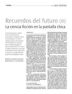 Recuerdos del futuro (III)