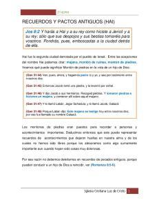 RECUERDOS Y PACTOS ANTIGUOS (HAI)
