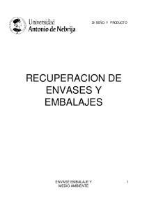 RECUPERACION DE ENVASES Y EMBALAJES