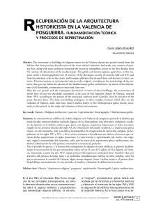 RECUPERACIÓN DE LA ARQUITECTURA