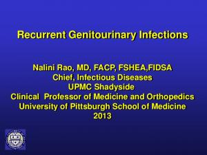 Recurrent Genitourinary Infections