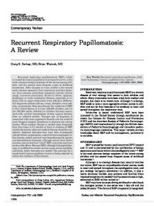 Recurrent Respiratory Papillomatosis: A Review