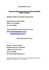 RECURSERO SALUD REGIONES SANITARIAS