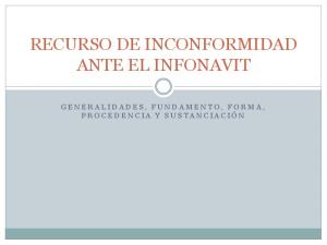RECURSO DE INCONFORMIDAD ANTE EL INFONAVIT