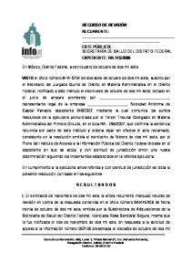 RECURSO DE REVISIÓN RECURRENTE: En México, Distrito Federal, a veinticuatro de octubre de dos mil siete