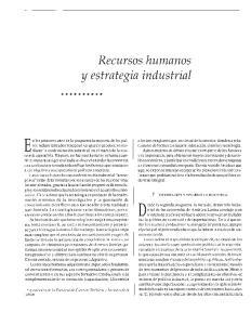 Recursos humanos y estrategia industrial