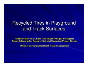 Recycled Tires in Playground and Track Surfaces
