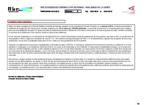 RED DE MEDICOS CENTINELA DE ASTURIAS - VIGILANCIA DE LA GRIPE