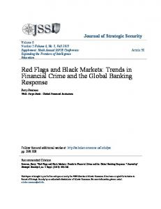 Red Flags and Black Markets: Trends in Financial Crime and the Global Banking Response