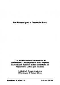 Red Forestal para el Desarrollo Rural