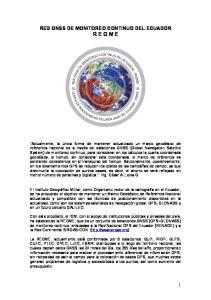 RED GNSS DE MONITOREO CONTINUO DEL ECUADOR