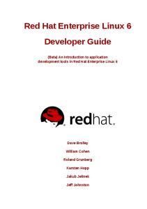 Red Hat Enterprise Linux 6 Developer Guide