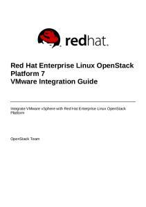 Red Hat Enterprise Linux OpenStack Platform 7 VMware Integration Guide