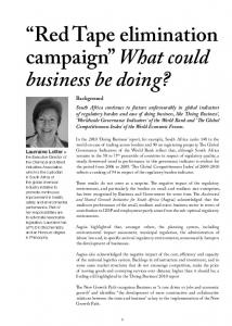Red Tape elimination campaign What could business be doing?
