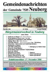 Redaktionsschluss: 27. November 2006