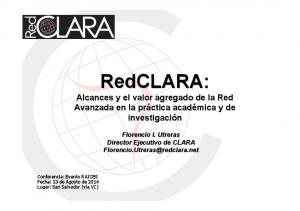 RedCLARA: Alcances y el valor agregado de la Red
