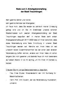 Rede zum 2. Arbeitgeberempfang der Stadt Treuchtlingen