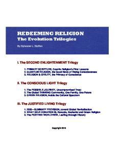 REDEEMING RELIGION The Evolution Trilogies