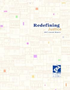 Redefining. Justice Annual Report