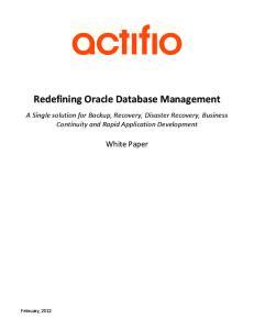 Redefining Oracle Database Management