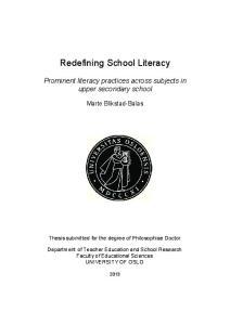 Redefining School Literacy