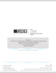 Redes ISSN: Universidad Nacional de Quilmes Argentina
