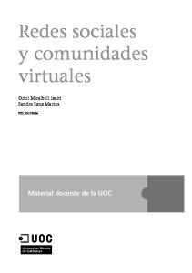 Redes sociales y comunidades virtuales