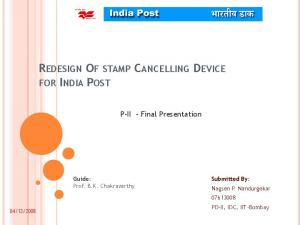 REDESIGN OF STAMP CANCELLING DEVICE