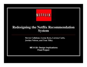 Redesigning the Netflix Recommendation System