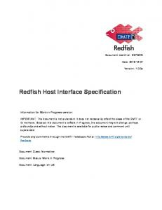 Redfish Host Interface Specification