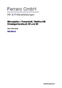 Redline XM Einsteigerhandbuch 2D und 3D