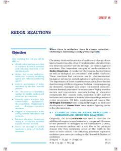 REDOX REACTIONS UNIT 8