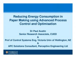 Reducing Energy Consumption in Paper Making using Advanced Process Control and Optimisation