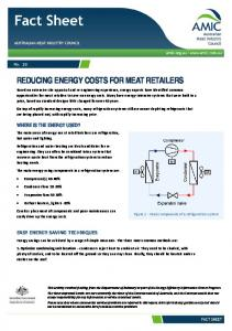 REDUCING ENERGY COSTS FOR MEAT RETAILERS