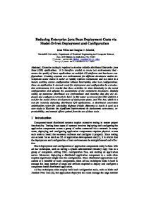 Reducing Enterprise Java Bean Deployment Costs via Model-Driven Deployment and Configuration
