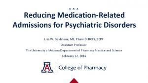 Reducing Medication-Related Admissions for Psychiatric Disorders