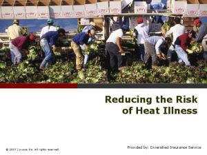 Reducing the Risk of Heat Illness