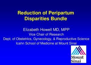 Reduction of Peripartum Disparities Bundle