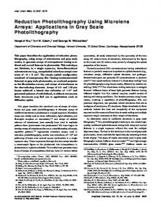 Reduction Photolithography Using Microlens Arrays: Applications in Gray Scale Photolithography