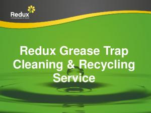 Redux Grease Trap Cleaning & Recycling Service