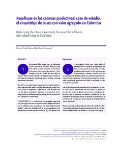 Reenfoque de las cadenas productivas: caso de estudio, el ensamblaje de buses con valor agregado en Colombia