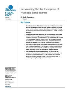 Reexamining the Tax Exemption of Municipal Bond Interest
