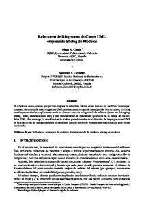 Refactoreo de Diagramas de Clases UML empleando Slicing de Modelos