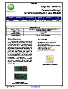 Reference Design for Sharp ZENIGATA LED Module