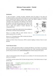 Reference Frame analysis Tutorial. (Pieter Medendorp)