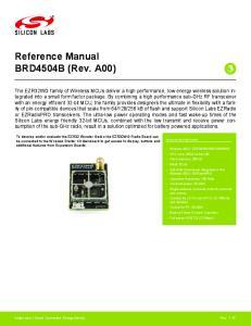 Reference Manual BRD4504B (Rev. A00)
