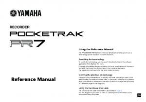 Reference Manual RECORDER. Using the Reference Manual