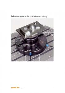 Reference systems for precision machining