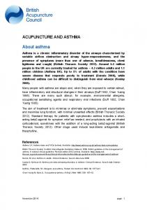 References Asthma UK. Asthma facts and FAQs [online]. Available: