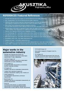 REFERENCES Featured References